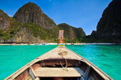 Head of long tail boat in the south of Thailand Royalty Free Stock Photos