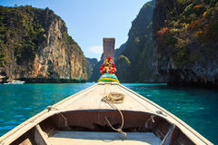 Head of long tail boat in the south of Thailand Royalty Free Stock Photography