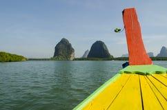 Head long tail fisherman boat in Andaman sea Royalty Free Stock Images