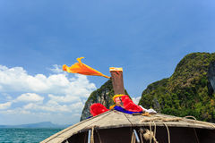 Head of longtail boat in the thailand sea. Photo of Head of longtail boat in the thailand sea Stock Images