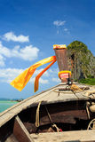 Head of longtail boat in the thailand sea. Photo of Head of longtail boat in the thailand sea Stock Photos