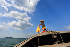 Head of longtail boat in the thailand sea Royalty Free Stock Photography