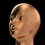 Head looks up Royalty Free Stock Images