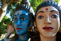Head of Lord Shiva and his partner Royalty Free Stock Photography