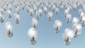head mänskliga lightbulbs Arkivfoton
