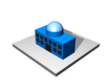 Head Main Office - Industrial Manufacturing Diagra Stock Images