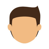 Head man with brown hair without face Royalty Free Stock Images
