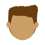 Head man with curly hair without face Royalty Free Stock Images