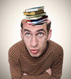 Head of a man and his mind. Royalty Free Stock Photos
