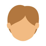 Head man with light hair without face Stock Photo