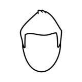 Head man male thin line Royalty Free Stock Photos