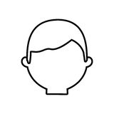Head man male thin line Stock Image