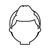 Head man male thin line Royalty Free Stock Images