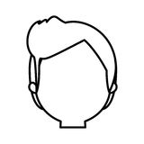 Head man male thin line Stock Photo