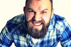 Head man portrait grimace Stock Image
