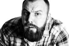Head man portrait space Stock Photography