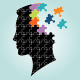 Head man puzzles strategy. vector illustration Royalty Free Stock Image