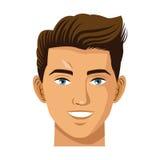 Head man smile avatar virtual reality icon Royalty Free Stock Photo