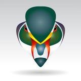 Head of Mandarin Duck. Beautifully designed half Stock Photos
