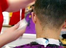 head manlig för frisersalong Royaltyfri Bild