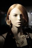 Head of a Mannequin. Head of a blond mannequin (not a human royalty free stock photography
