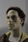 Head of a Mannequin. Mannequin of a young man (not a human Royalty Free Stock Photography