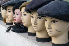 Head mannequins in hats Royalty Free Stock Image