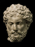 Head of Marcus Aurelius, roman emperor. Sculpture of Saint Agnes Convent in Prague Stock Photography