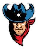 Head maskot för cowboy Royaltyfria Bilder