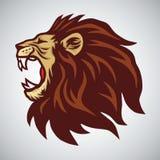Head maskot för lejon stock illustrationer
