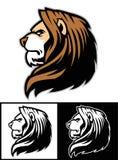 Head maskot för lejon royaltyfri illustrationer