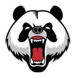 Head maskot för panda Arkivfoto