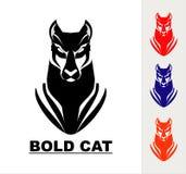 Head maskot för panter, löst katthuvud vektor illustrationer