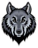 Head maskot för varg Arkivbild