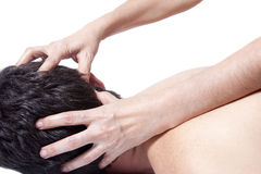Head massage stock image