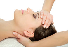 Head massage Royalty Free Stock Images