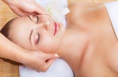 Head massage Stock Photography
