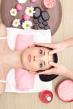 Head massage in a spa center Stock Photography