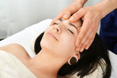 Head massage Stock Photos