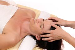 Head massage Royalty Free Stock Photos