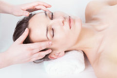 Head massage Stock Photography