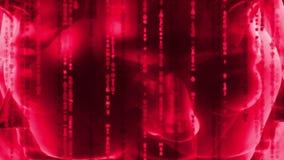 Head - Matrix - communication stock video footage