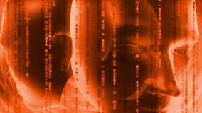Head - Matrix - orange Royalty Free Stock Images
