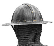 Head of Medieval Soldier Stock Photo