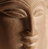 Head meditera för stenBuddha Royaltyfria Foton