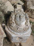 Head of Medusa. Libya. Leptis Magna. Medusa head in marble from the Severan Forum Stock Photography