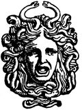 Head of Medusa Stock Image