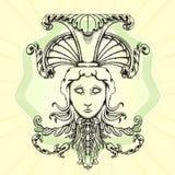 The head of Medusa. Royalty Free Stock Photos