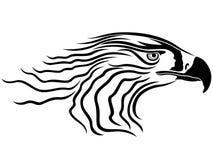 Head of menacing eagle Royalty Free Stock Photography