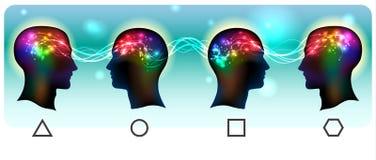Head Mental Waves vector illustration